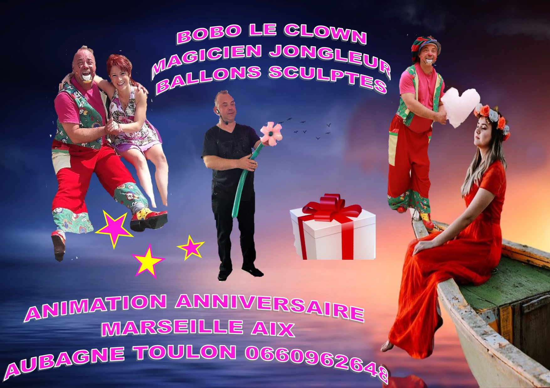 clown anniversaire domicile boboleclown magicien marseille. Black Bedroom Furniture Sets. Home Design Ideas